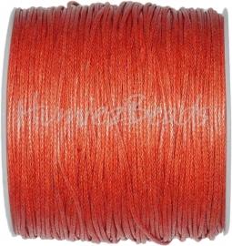 W-0029 Waxkoord Oranje-rood ±70 meter