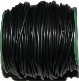 R-4010 Kautschukband hohl Schwarz 4mm; loch 3mm 1 meter