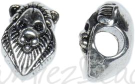 01622 Pandorastijl kraal Leeuw Antiek zilver 13mmx7mmx7mm; gat 4mm 1 stuks