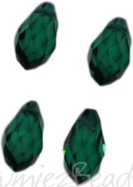 04339 Glaskraal druppel Emerald 4 stuks