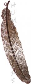 B-0032 Boekenlegger veer Antiek brons 115mm