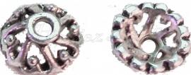 01276 Kralenkap open Antiek zilver (Nikkel vrij) 3,5mmx9mm 12 stuks