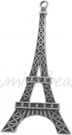02768 Hanger Eiffeltoren Antiek zilver (Nickel vrij) 69mmx36mmx3mm 1 stuks