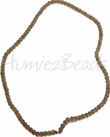 03561 Glasperle strang (±40cm) crackle Grün 4mm 1 strang