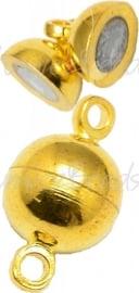 03741 Magneetslot Goudkleurig (Nikkel vrij) 14mmx8mm