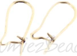 04068 Oorbelhaakjes gesloten Goudkleurig (Nikkelvrij) 18mm 6 paar
