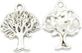 00581 Bedel tree of life Antiek zilver (Nikkel vrij)