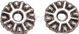 01476 Spacer daisy Antiek zilver (nikkelvrij) 1,5mmx9mm 20 stuks