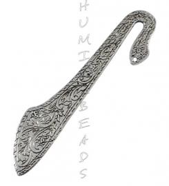 B-0040 Boekenlegger Chique antiek-zilver 80mm