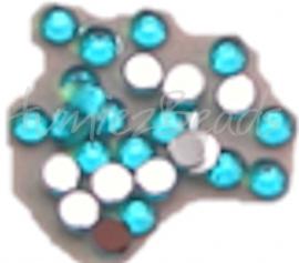 01454 Plaksteen acryl Blauw 3mm ±25 stuks