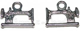 02118 Bedel naaimachine Antiek zilver (Nikkelvrij) 15mmx19mmx3mm 4 stuks