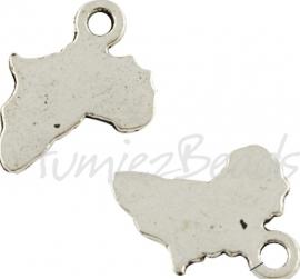 03761 Bedel tekst blanco paardenhoofd Antiek zilver (Nikkelvrij) 9mmx11mmx1mm 10 stuks