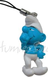 00151 3d Bedel smurf met telefoonhanger Blauw/wit 40mmx21mmx16mm 1 stuks