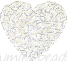 01072 Hanger hart Zilverkleurig 22mmx24mmx8,5mm 1 stuks