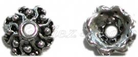 00802 Kralenkap turn Antiek zilver (Nikkelvrij) 3mmx10mm 12 stuks