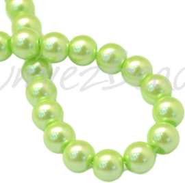 04029 Glasparel GreenYellow 3-4mm; gat 0,5mm 1 streng ±30cm