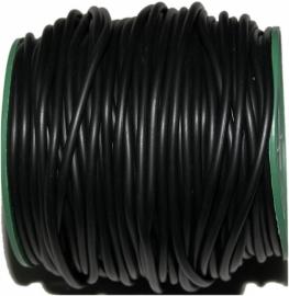 R-4015 Rubberkoord (NIET HOL) Zwart 4mm 1 meter