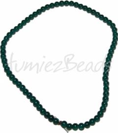 03502 Glaskraal streng (±40cm) imitatie jade Groen 6mm 1 streng