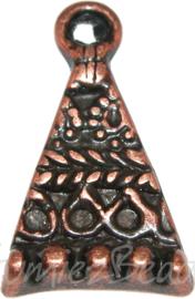 00840 Hangertje driehoek Koper 26mmx16mm