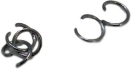 02548 Ringetjes Zwart (Nikkelvrij) 6mmx0,7mm ±100 stuks