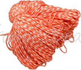 PARA-4007 Parakoord Oranje-wit 4mm 6 meter