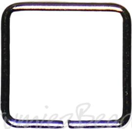 04124 Ringetjes Vierkant Metaalkleurig (Nikkelvrij) 8mmx0,7mm ±35 stuks