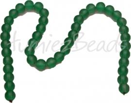 03610 Glaskraal frosted streng ±40cm Donker groen 10mm 1 streng