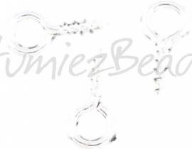 01041 Schroefoog (schroef bails) Zilverkleurig (Nikkelvrij) 8mmx4mm 20 stuks