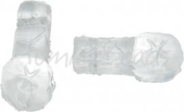 00074 Tsjechische glaskraal Transparant 6 stuks