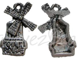 00423 Bedel molen Tibetaans zilver 20mmx13mm