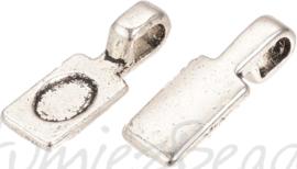 03076 Plakoog voor hangers (glue on bail) Antiek zilver (Nikkelvrij) 7 stuks