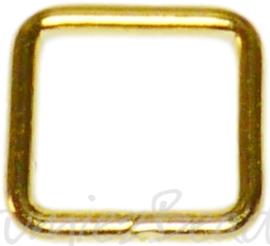 04120 Ringetjes Vierkant Goudkleurig (Nikkelvrij) 6mmx0,7mm ±50 stuks