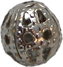 01764 Filigraan kraal Metaalkleurig 6mm 20 stuks