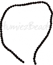 03208 Glaskraal Imitatie swarovski bicone zwart 4mm 1 streng (±30cm)