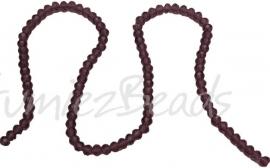 01414 Glaskraal imitatie swarovski faceted Abacus streng (±20cm) Paars 4mmx6mm 1 streng