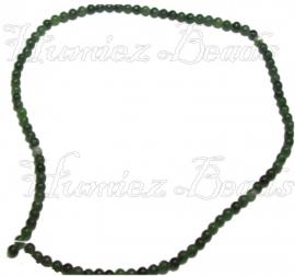 00498 Natuursteen streng ±40cm Groen 4mm 1 streng