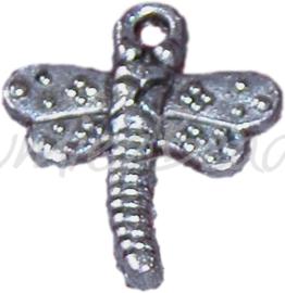 00216 Hanger Libelle Antiek zilver (Nikkelvrij) 18mmx15mm