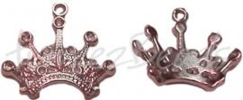 03266 Bedel kroon Tibetaans zilver 21mmx23mm 7 stuks