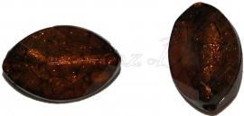 02196 Acryl kraal ovaal Bruin 28mmx18mmx11mm 11 stuks