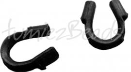 03704 Draadbeschermer Zwart (Nikkel vrij) 5mmx4mm ±20 stuks