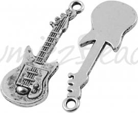 01519 Bedel Gitaar Antiek zilver (Nickel vrij) 31mmx11mm