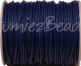 R-2009 Rubberkoord Blauw 2mm; gat 1mm 1 meter