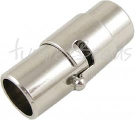 00424 Magneetslot Stainless Steel 18mmx7mm; gat 6mm 1 stuks