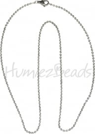 K-0005 Ketting Stainless steel Metaalkleurig 45cm 1 stuks