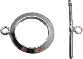 01876 Kapittelslot ring glad Zilverkleurig 20mmx16mm 3 stuks