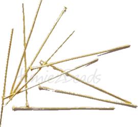 04074 Nietstift Goudkleurig (Nikkelvrij) 16mmx0,7mm ±100 stuks