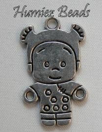 02799 Bedel kind Antiek zilver 27mmx17mm
