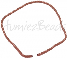 03429 Glasparel streng (±30cm) Zalm 3mm 1 streng