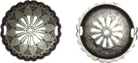 02650 Tussenstuk Pukkie Antiek zilver (Nikkelvrij) 51x4mm; gat 8x3mm 1 stuks