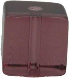 02003 Glaskraal vierkant Bordeaux 10mmx10mm 1 streng (±30cm)
